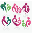 happy family and love concept collection vector image