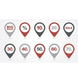 mapping pins icons SALE vector image