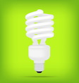 popular eco green compact fluorescent lamps white vector image
