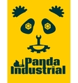 simple sign a panda - industrial design template vector image
