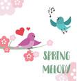 singing birds vector image
