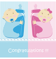 Twins Baby Boy And Girl Vector Image