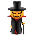 halloween pumpkin vampire vector image vector image