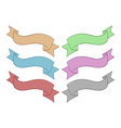 ribbon banners colored set hand drawn sketch vector image vector image