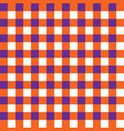 purple and orange plaid fabric pattern vector image vector image
