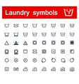 Laundry symbols vector image vector image