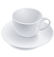empty teacup vector image