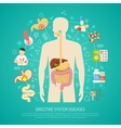 Digestive System Diseases vector image