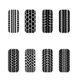 Cars tire tracks vector image vector image