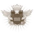 Vintage music emblem vector image