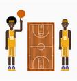 basketball player team character vector image