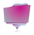 Origami pink element vector image