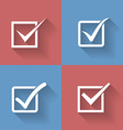Set of check mark check box icons vector image