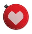 Valentines knitted heart vector image