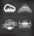 Climbing Mountain Label vector image vector image