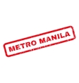 Metro Manila Rubber Stamp vector image
