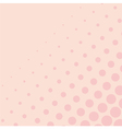 Pink background with big and small dots vector image vector image