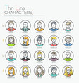 big collection of male and female characters vector image