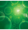 abstract bubble green vector image
