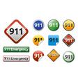 Emergency call 911 vector image