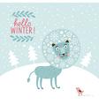 Snowy fairy lion vector image vector image