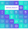 Line Art Virtual Reality Icons Set vector image