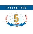 Anniversary happy holiday celebration emblems set vector image