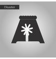 black and white style icon tsunami Island vector image