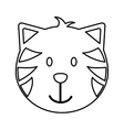 cat head mascot isolated icon vector image