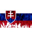 Flag of Slovakia vector image