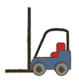 forklift cargo icon image vector image