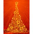 Gold Christmas tree vector image