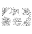 Halloween spider web icons vector image