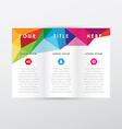 Modern brochure DLE template vector image