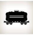 Silhouette tank car on a light background vector image