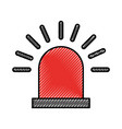 siren alert isolated icon vector image