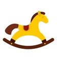 Horse toy icon flat style vector image