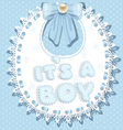 its a boy baby shower on bib vector image