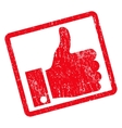 Thumb Up Icon Rubber Stamp vector image