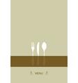 Menu design for restaurant vector image