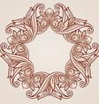 Rose pink floral pattern vector image