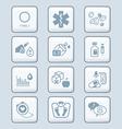 Diabetes icons - TECH series vector image vector image