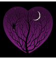night in heart vector image vector image