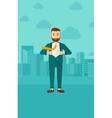 Businessman taking off jacket vector image vector image