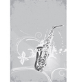 concert poster with saxophone vector image vector image