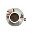 Coffee or Tea cup with Macaroons vector image