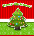 merry christmas decorative card vector image