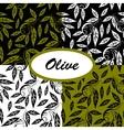 olive ptterns set vector image