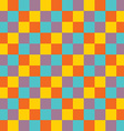 popular vintage color tone checker chess square vector image