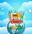 Vacation travelling concept travel with dif vector image